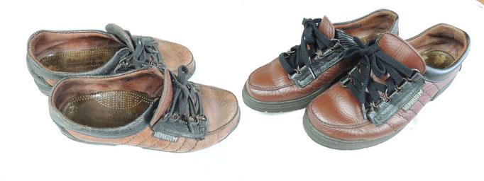 30年ものの外国製の靴、塗り替えです。