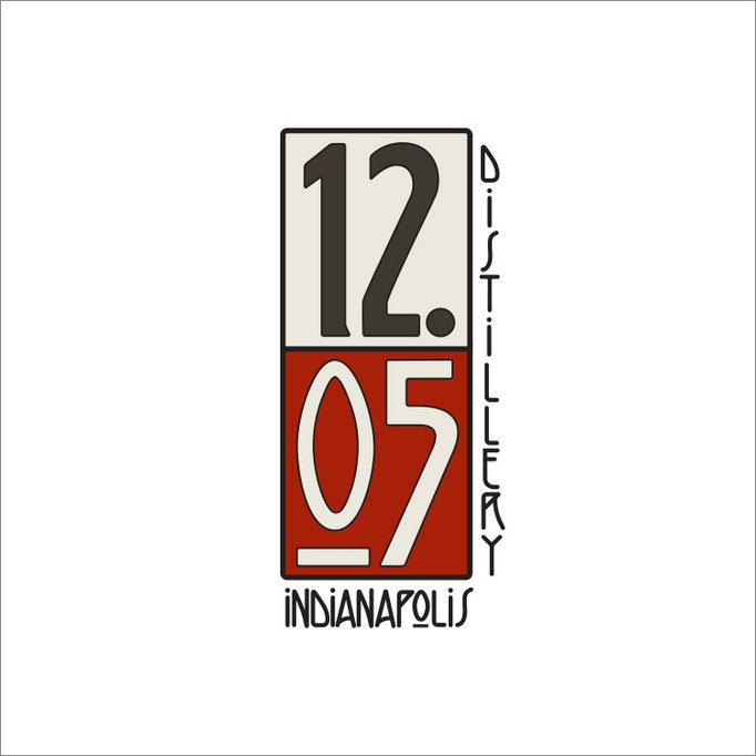 1205 Distillery Logo Illustration (Design by Garret Hudson)