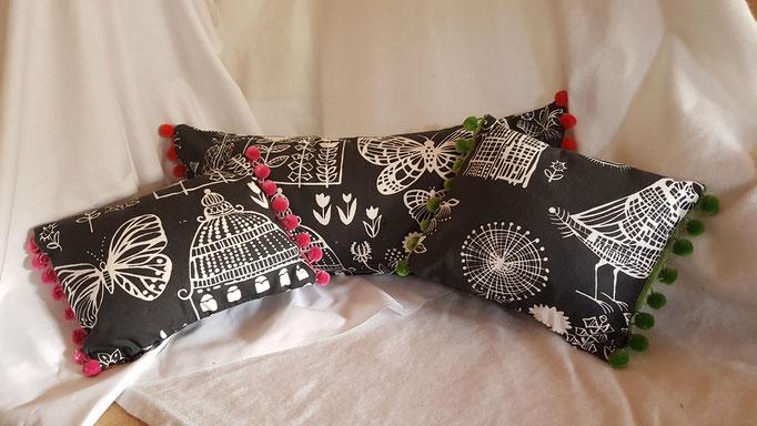 Designers Guild Boqueria feather pads and velvet pom pom Large £20 small £12