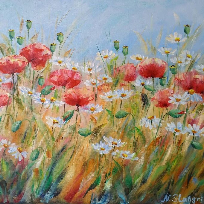 Summer flowers 07-2018 Oil on canvas, 30x40cm