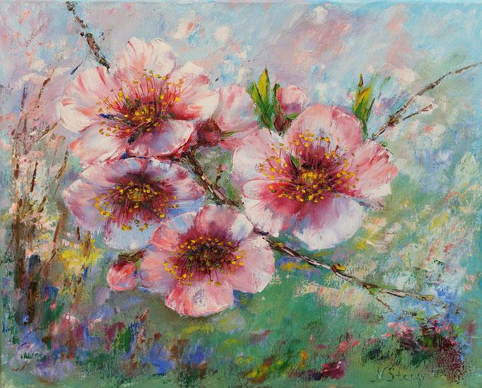 Peach Oil on canvas, 40X50cm. 03-2017 Sold!