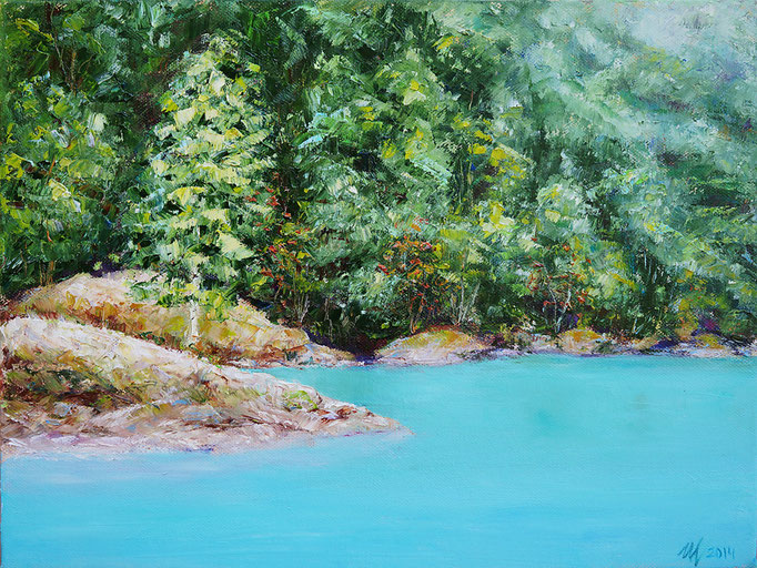 Lovatnet. Oil on canvas. 30x40 cm. 2014