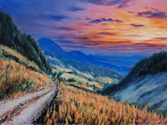 Long road.Oil,hardboard, 30x40cm, 11-2010.