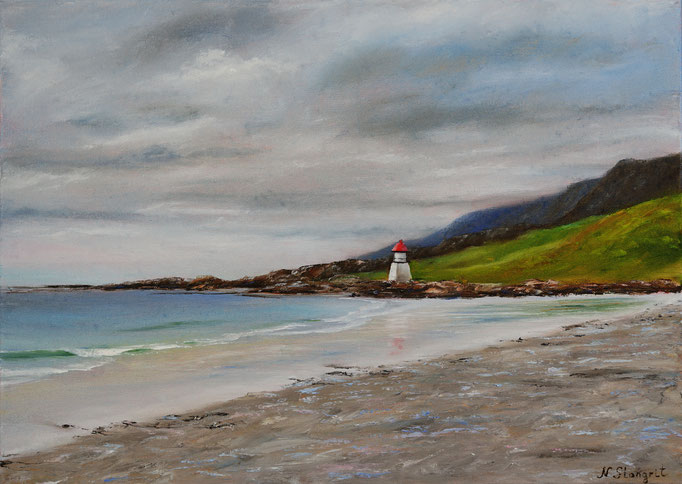 On the Atlantic coast Oil on canvas, 50x70cm. 2017