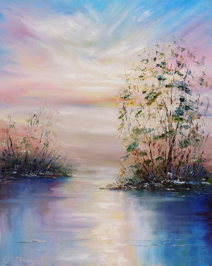Sky. Oil on canvas panel, 40x50cm, 2016