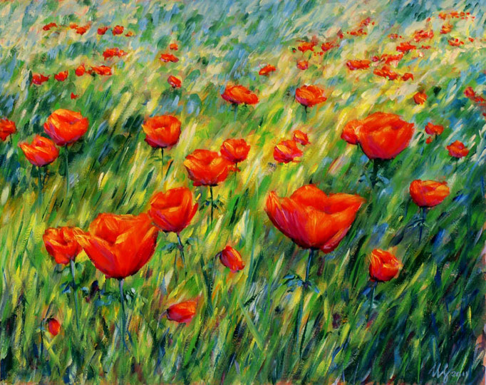The pace of the summer. Oil on cardboard, 40x50cm, 04-2011