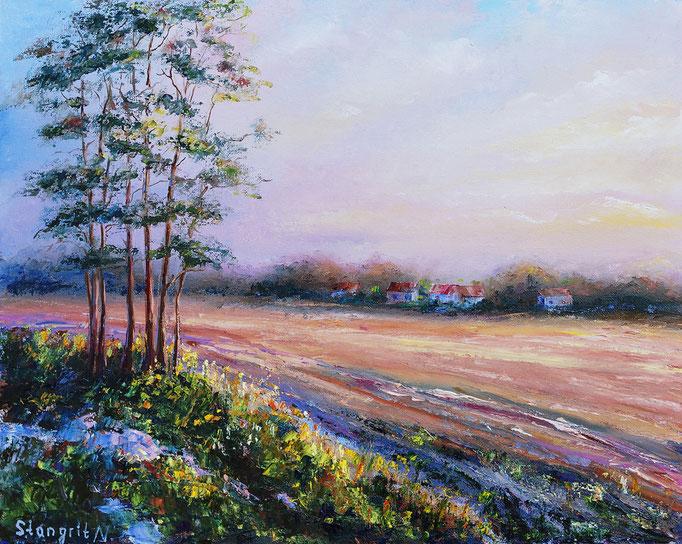 Last glow Oil on canvas panel. 40x50cm. 11-2015