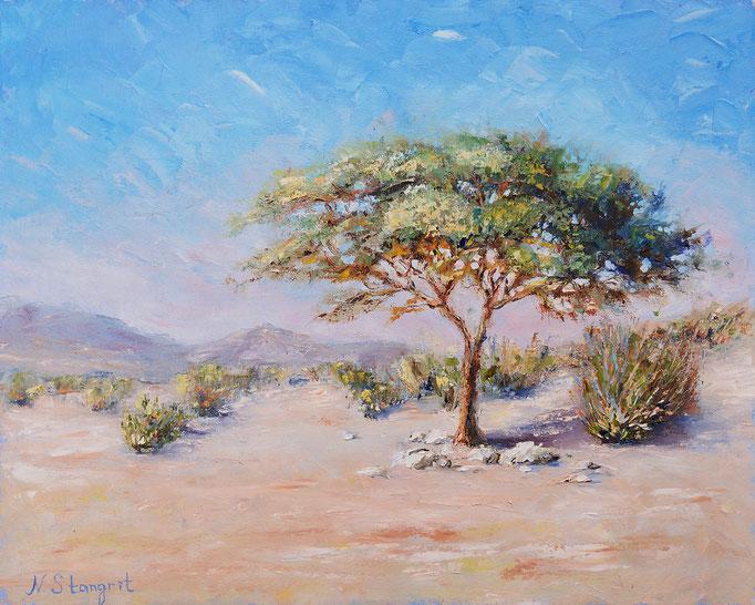 Desert. Oil on canvas, 40x50cm, 2017