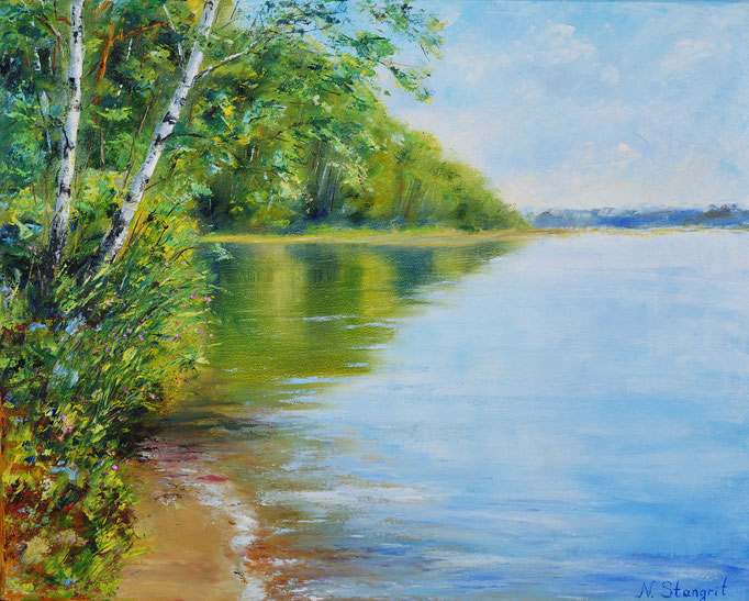Visagino ežeras Oil on canvas, 40x50 cm. 08-2017