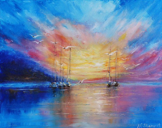 Quiet evening Oil on canvas panel, 40x50cm, 2016