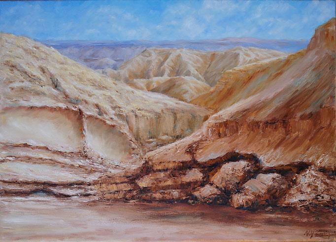 Stony desert. Oil on canvas. 50x70cm, 2014.