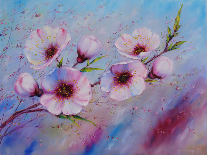 Spring flowers.#2 Oil on canvas, 60x80 cm. 09-2017 Sold!