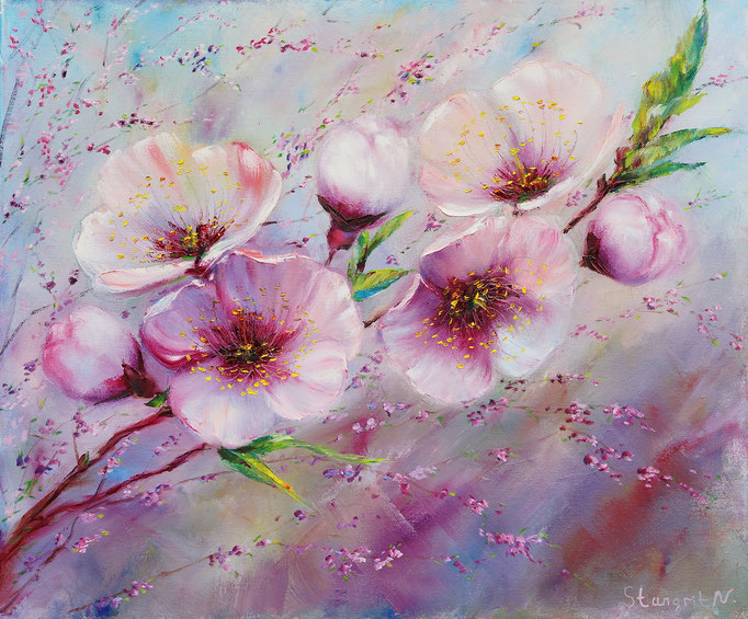 Spring Flowers Dream Oil on canvas, 50x60 cm, 2016 Sold!