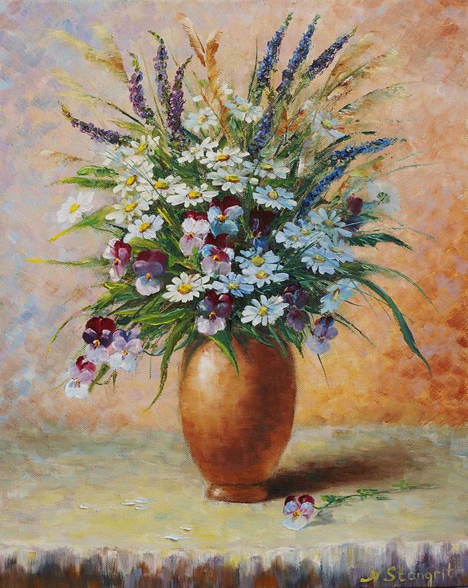 Summer Still Life. Oil on canvas, 40x50 cm, 2015 Sold1