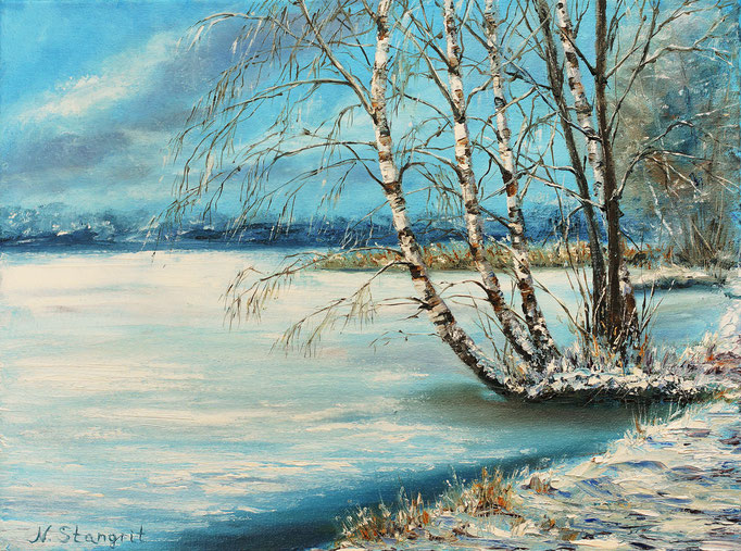 Winter Oil on canvas, 30x40cm, 2017 Sold!