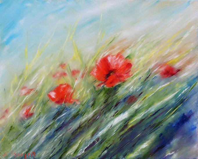A Warm Breeze of Summer Oil on canvas panel, 40x50cm, 2016 #Art