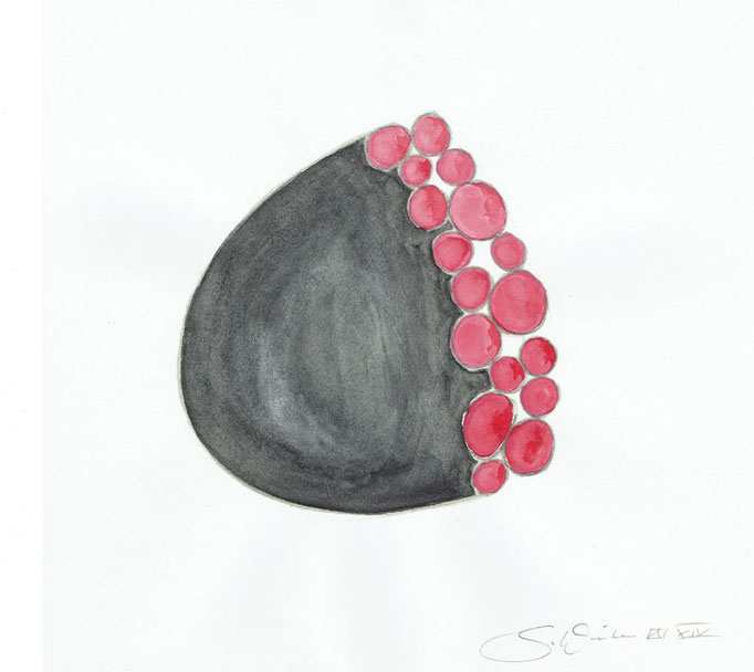 Future Jewelry? #1 • Aquarell auf Papier 2014 • 20 x 20 cm