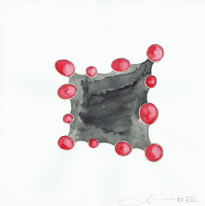 Future Jewelry? #2 • Aquarell auf Papier 2014 • 20 x 20 cm