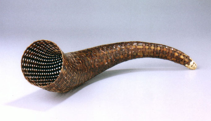 woven horn • Skulptur 2005 • Kupfer, Blattgold