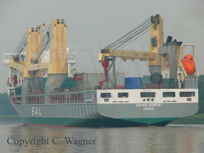 Heavy Lift Vessel ANNE-SOFIE, Heckansicht