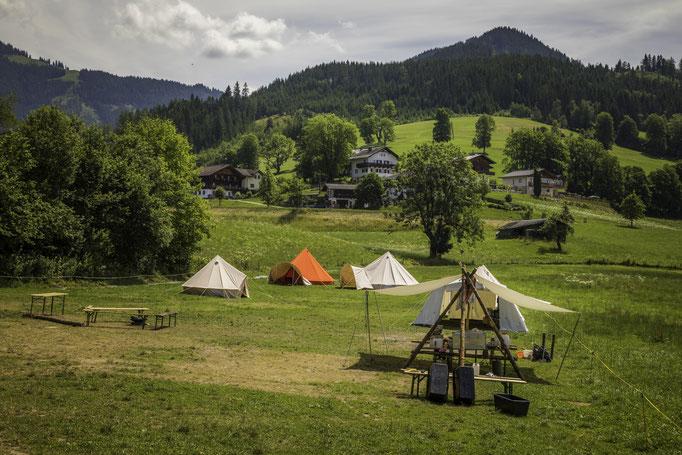 Genügend Platz für Zelte und zum Spielen