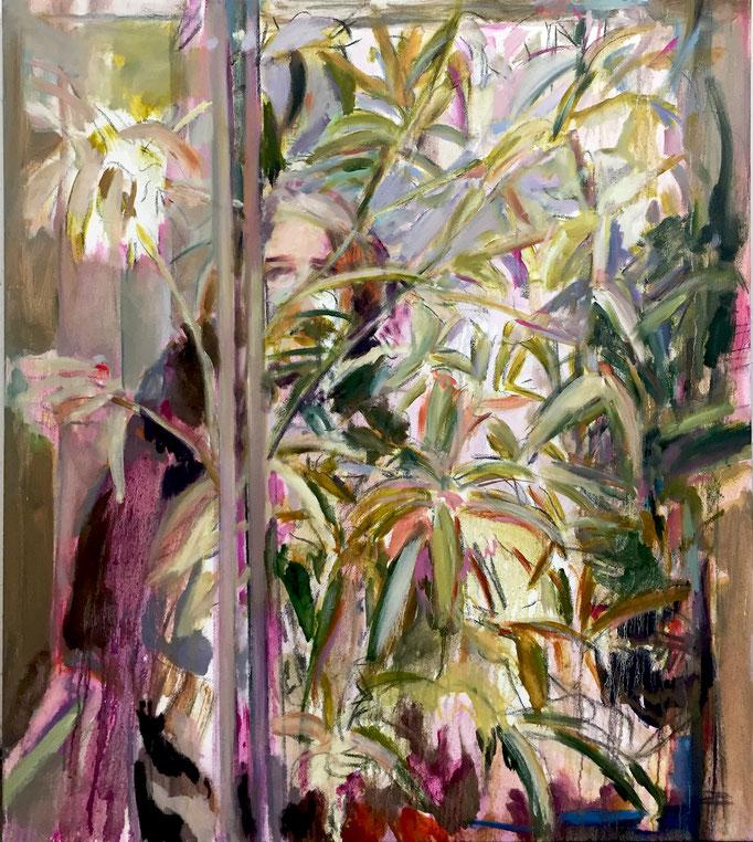 Fahrstuhl 2020, oil on canvas 120 x 100 cm