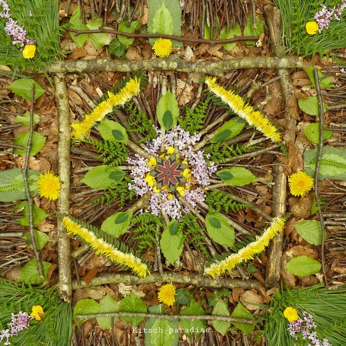 kitsch-paradise, mandala, Ode à la nature