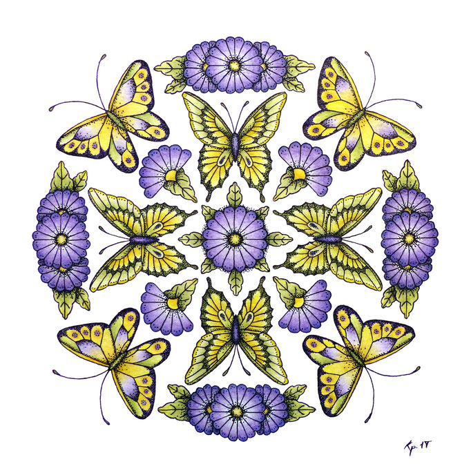 kitsch-paradise mandala de papillon