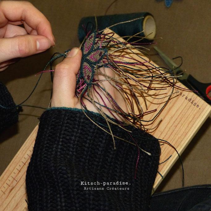 kitsch-paradise, atelier tissage selon la technique du macramé