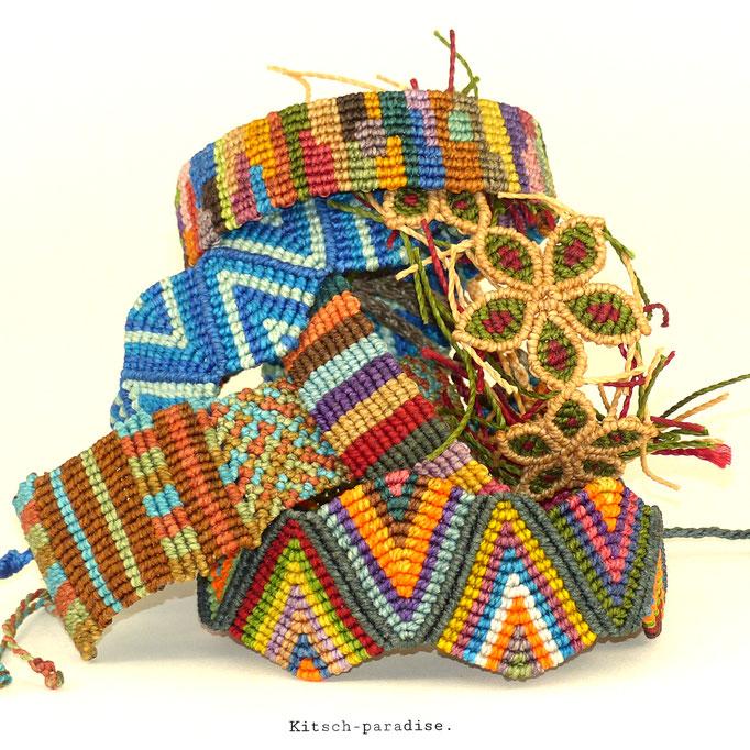 kitsch-paradise, bracelet macramé