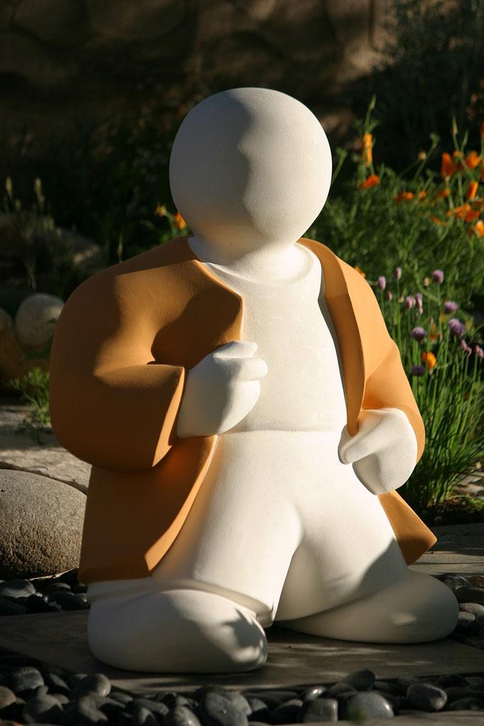 """""""Barnabé, en vadrouille"""" - sculpture en béton - 80x70x42 cm"""