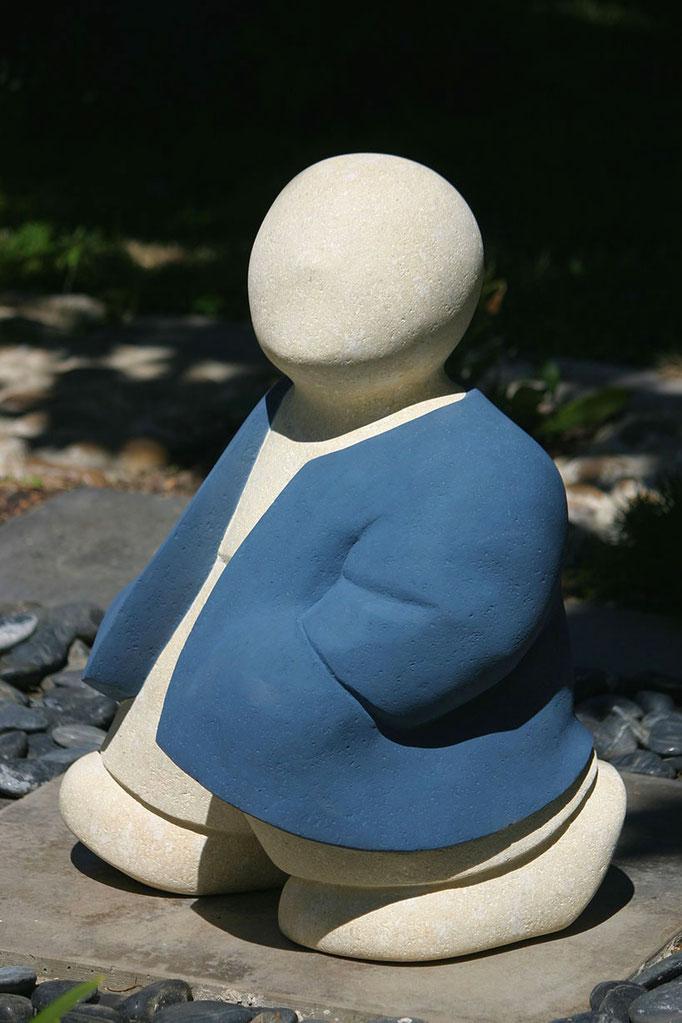 """""""Barnabé, la balade"""" - sculpture en pierre du Gard -"""