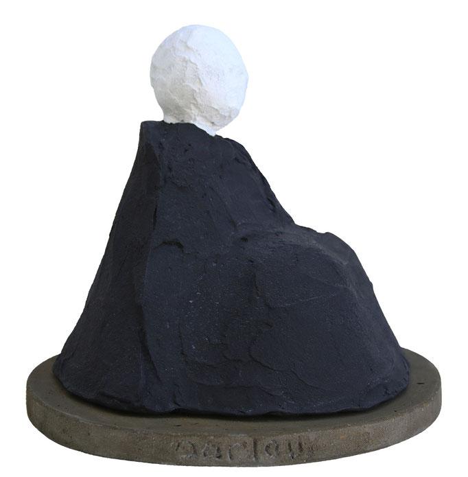 """""""Contemplation II"""" - sculpture en béton - 24x36x26 cm"""