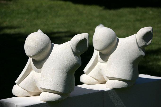 """""""Barnabé, l'envol"""" - sculptures en pierre du Gard -"""