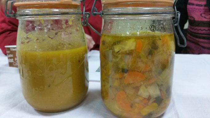 soupe de légumes (mixés ou non)