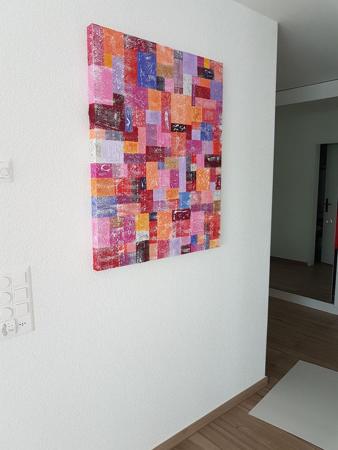 Name: Karo rot, Masse: 100 x 100 x 5 cm, Preis: Sfr. 3 250.--