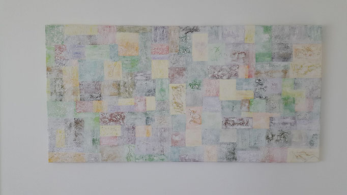 Name: Karo Pastell grün, Masse: 120 x 40 x 5 cm, Preis: Sfr. 2 450.--