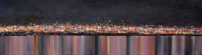 Nachtglanz, 160 cm x 80 cm, Öl auf Leinwand, 2011