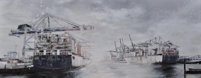 Rigoletto, 225 cm x 80 cm, Acryl auf Photographie, 2012