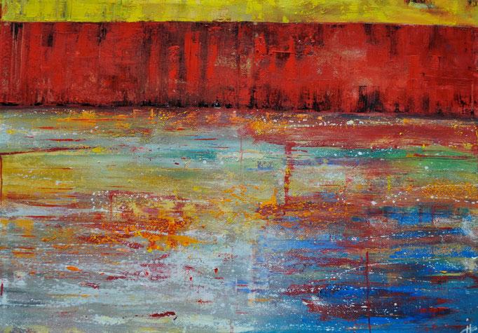 Es kommt ein Schiff beladen, 140 cm x 100 cm, Öl auf Leinwand, 2011