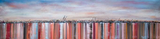 Abendrot, 200 cm x 50 cm, Öl auf Leinwand, 2013