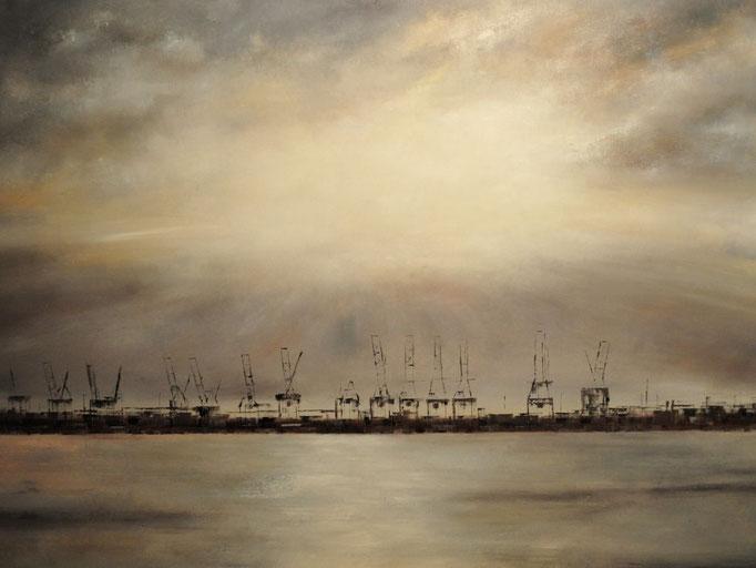 Wintersonne, 160 x 120 cm, Öl auf Leinwand, 2011, VERK.