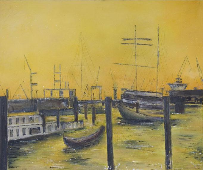 Hafen. 100 x 120 cm Öl auf Leinwand, 2008
