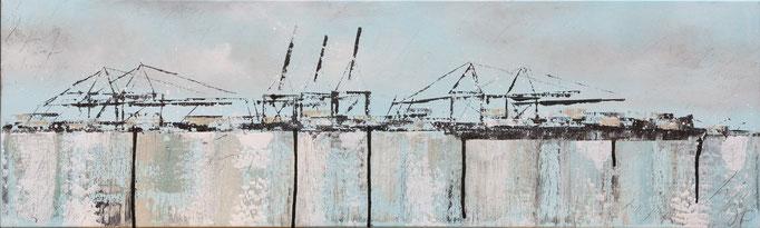 Wie sieht dein Himemel aus II, 100 cm x 60 cm, Acryl auf Leinwand, 2013