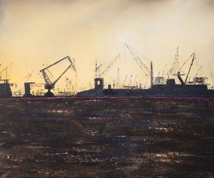 Silhouette, 120 x 100 cm, Öl auf Leinwand