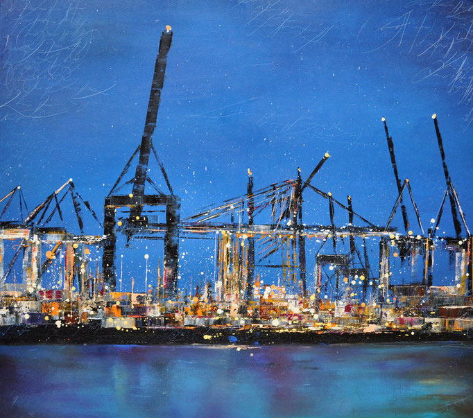 Blaue Stunde II, 70 cm x 80 cm, Öl auf Leinwand, 2011, VERK.