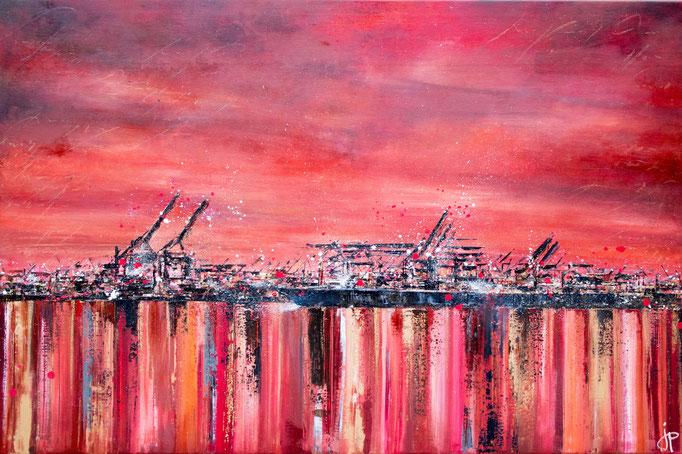 Roter Hafen, 120 cm x 80 cm, Öl auf Leinwand, 2013