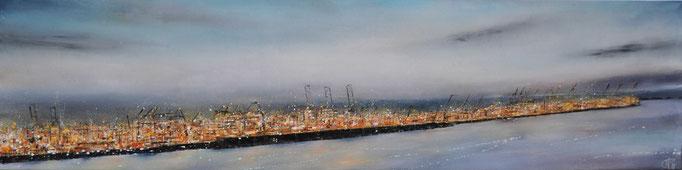 Lichterliebe, 200 cm x 50 cm, Öl auf Leinwand, 2011