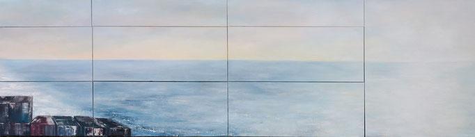Einverstanden, 350 cm x 100 cm, Öl auf Leinwand, 2013