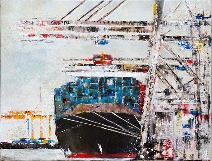 Ahoi II, 160 cm x 140 cm, Öl auf Leinwand. 2012
